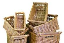Baskets / A wide selection of Baskets and Accessories are available to enhance your home or shop. View East 2 Eden's range of baskets: http://www.east2eden.co.uk/shop/baskets  #baskets #wickerbaskets #trugs #logbaskets #applecrates