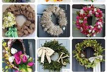 Wreaths & Swags ~ Wreath Crafts ~ Ideas & Tips / by Liz Watkins