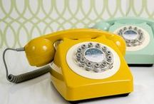 Retro Telephones / They don't make them like they used to... or do they? Transform a tired looking hallway or console table with one of our super stylish retro telephones!  Retro Phones | Retro Telephones | Seventies Phones | 70's Phones | Old Corded Phones | Corded Phones | Old Phones | Classic Phones