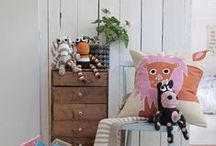 Yawama of Sweden /  Ecological handknitted soft toys, handpainted cushion covers, storage bins and baskets.  Swedish design handmade in Africa for kids rooms and homes