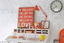 Coral: The Color we LUV / We own coral in cosmetics! A new home office design, beauty advisor studio or other ideas to promote the brand