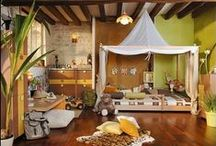 Safari Themed Kids Room I / Transform bedtime into an African safari adventure with this collection of wild and wonderful kids interior and accessory ideas!