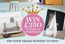 'My Cuckooland Dream Nursery' Competition / To celebrate the birth of the Royal Princess, create your Dream Nursery to win £250 to spend at Cuckooland! To enter, create a Board entitled 'My Cuckooland Dream Nursery' and pin your favourite nursery interior ideas. Fill your board with at least 10 pins, 5 items must be pinned from cuckooland.com. Remember to tag #dreamnursery and @cuckoolandcom on each pin. Competition closes 31.07.15. For T&C's visit www.cuckooland.com/blog