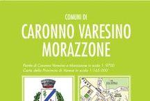 CARONNO VARESINO e MORAZZONE / La nuovissima mappa dei comuni di Caronno V. e Morazzone
