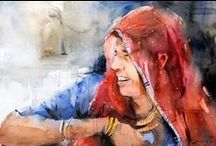 Online Art Gallery of Watercolor Paintings / Online art gallery - Best watercolors of famous watercolor artist Nitin Singh. An inspirational watercolor artist Nitin Singh has been working with this media a decade from now, his curiosity to explore watercolor medium gives him eminence pleasure. He firmly believes that pleasurable watercolor artwork always demonstrates the artist desirability and his rejoicing moment, as a watercolorist that moment become incomparable to him.