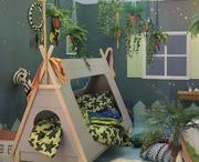 Where the Wild Things Are Themed Kids Room / Inspired by interior designer Nisha Steven's 'Where the Wild Things Are' kids bedroom design, which won this year's Grand Design's Live room set competition, here's how to re-create the ultimate jungle themed, botanical bedroom for your little Wild Child!