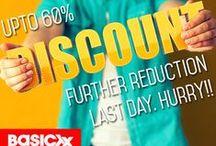 Basicxx Big sale / Basicxx Big sale is now on in Riyadh. Walk into the Basicxx stores at Riyadh Gallery, Khurais road, Othaim Mall (Rabwa), Sultana Plaza (Badiya) to avail upto 60% off on your favourite Basicxx merchandise.