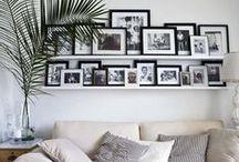 Photo wall / Att skapa en tavelvägg. Creating a photo wall.