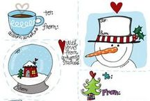 Printable gift tags / Etiquettes cadeaux