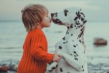 Babies and Dogs / Two of the cutest things on the planet. Every kid needs a fur buddy.