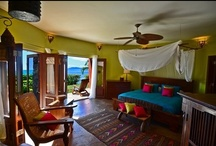 Rajasthan / Images inspired by the colours of Rajasthan Suite at Baraka Point Villa.  Lime & Turquoise.