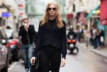 Saints en Noir / During Fashion Month (also called the Street Style Olympics) tons of Editors are dressed head-to-toe in Noir, and everything is more beautiful in black / by Saint Pierre