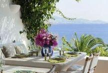 Terraces, gardens and green decor
