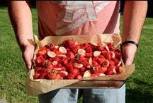 Erdbeer-Bananen-Kuchen / Erdbeeren, Erdbeerkuchen,