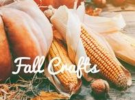 Fall Crafts / Get creative and make your own centerpieces, toys, and decorations this fall! These fall crafts are perfect for keeping the kids busy while you work on Thanksgiving dinner.