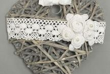 Handmade home decor - wreaths, pillows etc / wreaths, hearts, pillows and others