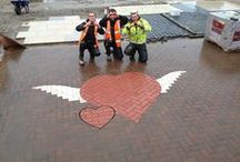 Valentine's Day from Marshalls / Valentine's block paving created by the team at Marshalls