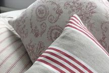 Sarah Fleming Cushions / Our newest collection of luxuriously feather filled cushions is synonymous with our strong heritage, hand picked from a treasure trove of exquisite linens and colour palettes for the most enviable living room.  www.lotsofliving.co.uk