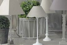 Bright Buys / Our antique fir lighting sets are a complete staple, complimentary of any room. Complete with a vast range of linen shades, these shabby chic show stoppers are the perfect accompaniment to the home setting.  www.lotsofliving.co.uk
