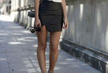 LEATHER - SKIRT