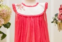 """Aquarela Collection / Celebrating the children, on June 1st, we launched a new collection of special occasion clothes and christening outfits, for babies, toddlers and small children. This collection is inspired from the magic """"Thumbelina"""" farytale, with clothes hand painted with pretty designs."""