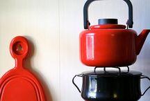 Rustic servings / Rustic tablecloths , serving dishes, vintage pots