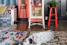 Styling Rugs in the Home / An inspirational board on how to style rugs within the home
