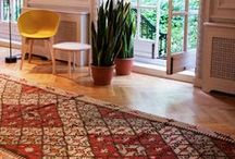 Emily's House London Showroom / Vintage rugs on display at our Queen Anne's Gate showroom and events