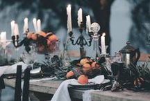 Autumn Halloween wedding / Wedding decor inspired by autumn and Halloween; rustic, Earthy, elegant and magical with lots of twinkles