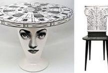 Piero Fornasetti Decorative Arts & Furniture / Beautiful Fornasetti ceramics, furniture and decorative accessories from the great Italian designer.