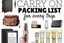 Travel Tips: Packing / Packing for travel can be hard, but these tips will make it easier!  Pack everything you need in a carry-on, get the best luggage and accessories, and use these tricks and packing lists when you're on the go.