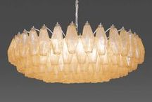 Vintage Venini Lighting / Glittering chandeliers, pendants, sconces and table lamps produced by the Murano glass factory of Paolo Venini