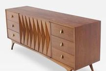 Crazy for Credenzas / The credenza is an anchor pieces in any midcentury modern interior. Wall-mounted, peg-legged, teak, rosewood or lacquer - the choices are endless. Here are some of our favorites, along with images from top interior designers.