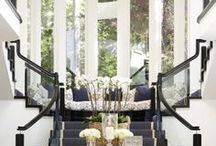 First Impressions: Foyers and Entryways / A welcoming entrance sets the tone for your home: glittering chandeliers, the perfect console or center table, and striking artwork. We take a look at some exceptional examples, and what you need to create the look.