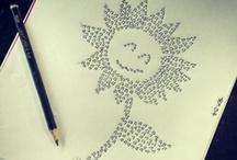 Minhas ideias em desenhos... / Onde minhas ideias moram...