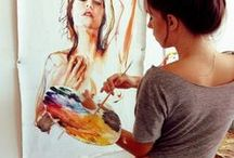art   paint. / by Laura Theobald