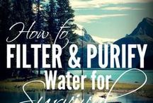 Water / Ideas to purify, store and prepare water for survival situations and more.