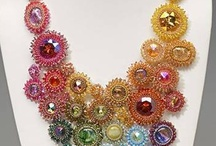 Beading - Rivoli / www.etsy.com/shop/BeadsOfBohemia - COLLECTION OF BEDED RIVOLI Designs, Patterns, Instructions, Inspiration. - pins marked * are FREE patterns or instructions, - pins marked *P are patterns or instructions to buy