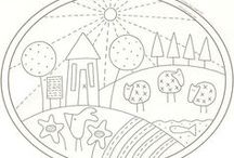 Drawings / Dibujos para bordar o colorear