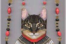 Beaded Cats