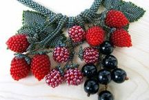 Beaded Fruits, Vegetables