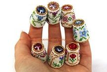 Beaded Needlecases, Pincusions,Thimbles