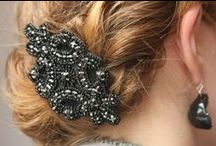 Beaded Hairclips, Hairpins