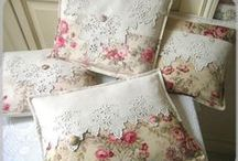 Vintage Style Cushions / Vintage inspired designs with a bit of a nod & a wink to the make do & mend era
