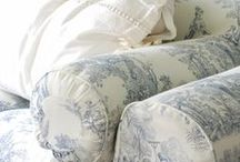 I Love Toile de Jouy! / Timeless classic style.  I love all Toile de Jouy fabrics, cushions, furniture.  My cottage is filled with it.  This board contains even more inspirational ideas