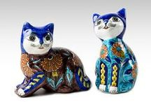 porcelain and ceramic and glass and ... cats / kočky,kocouři , koťata