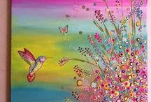 Красочные творения для вдохновения. Иллюстрации, витражная роспись, батик, фотографии, картины, все что может создать прекрасное настроение.