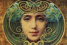 ART NOUVEAU / Art Nouveau, is an international philosophy and style of art, architecture and applied art—especially the decorative arts—that were most popular during 1890–1910
