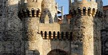 Castles of Spain - 3 / Castles in Spain were built mainly for defensive purposes. During the Middle Ages, northern Christian kingdoms had to secure their borders with their Muslim southern neighbours, thus forcing both Christian and Muslim kings to grant border fiefs to their liege noblemen so as to keep and maintain defensive fortresses.