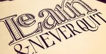 Lettering / Typography and hand lettering